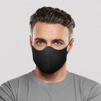 BLOCH  ソフトストレッチマスク【ブラック】レギュラーサイズ《 洗える抗菌マスク 》