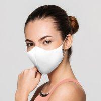 BLOCH  ソフトストレッチマスク【ホワイト】レギュラーサイズ《 洗える抗菌マスク 》