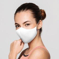 画像1: BLOCH  ソフトストレッチマスク【ホワイト】レギュラーサイズ《 洗える抗菌マスク 》