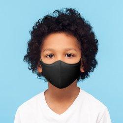画像1: BLOCH ソフトストレッチマスクC001【ブラック】スモールサイズ《 洗える抗菌マスク 》